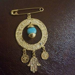 Jewelry - Evil eye quran kuran islam muslim brooch